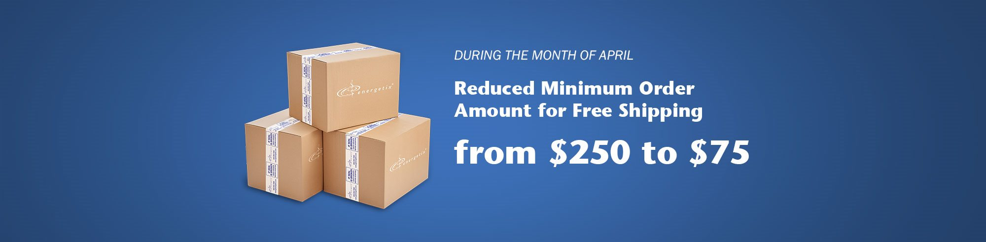 Reduced Minimum Order Requirement for Free Shipping